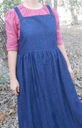 Girl Bib Jumper Denim, Plaids & Prints with Gathered Skirt all sizes