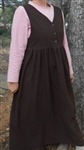 Maternity Nursing Jumper Crushed Cotton Chocolate Brown S 6 8