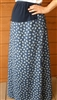 Maternity A-line Skirt in Cotton Prints all sizes