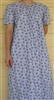 Ladies Nightgown Black & White Floral L 14 16 Petite