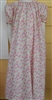 Girl Loungewear Gown Dress Rosebuds Pink Floral cotton size 5 6