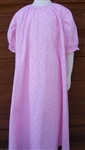 Girl Loungewear Dress Summer Short Sleeves Pink & White Floral 10 12