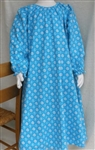 Girl Loungewear Gown Dress Turquoise Floral Flannel cotton size 14 16 X-long
