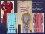 Ladies Nightgown Custom Pink or other Flannel all sizes
