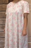 Ladies Nightgown Sketched Roses with Ruffle S 6 8 Petite