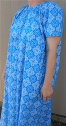 Ladies Nightgown with Ruffle Tan Dots cotton 1X 22/24 Tall
