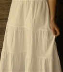 Tiered Petticoat Cotton Cream Muslin Ladies L 14 16