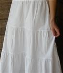 Petticoat Cotton White with Lace Girl XS 4 5