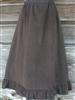Ladies A-line Skirt with Ruffle Brown Corduroy size 1X 22 24 Petite