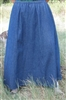 Girl 6 Gore Skirt Lightweight Navy Blue Denim size L 12 14