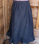 Girl A-line Skirt Navy Denim with Ruffle size 5 X-long