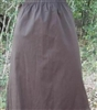 Girl A-line Skirt size 14 Brown Canvas X-long