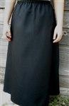 Ladies A-line Skirt Black Linen Rayon Blend Dressy XL 18 20
