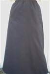 Ladies A-line Skirt Brown Twill S 6 8 X-long