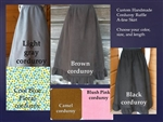 Skirt A-line Corduroy with Ruffle Custom all sizes