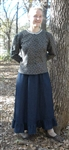 Ladies Skirt A-line Navy Denim with Ruffle XL 18 20