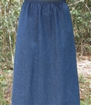 Ladies A-line Skirt Navy Denim 1X 22 24 Petite
