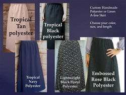 Classic A-line Girl Skirt Polyester or Linen