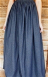 Ladies Full Skirt Navy Denim Petite S or M