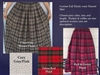 Skirt Full Custom Flannel S, M, L, XL, 1X, 2X, 3X