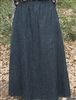 Ladies A-line Skirt Black Denim size M 10 12