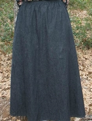 Girl A-line Skirt Black Denim size 8 X-long