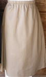 Ladies A-line Skirt Khaki Twill size M 10 12