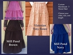 Ladies Skirt 3 Tiered Cotton Floral Print or Plaid all sizes