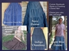 Ladies Skirt 4 Tiered Navy Denim & More all sizes