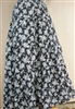 Ladies Skirt 5 Tiered Black Floral S 6 8 Tall
