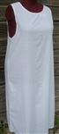 Ladies Full Length Slip Cotton white muslin 1X 22 24 Petite