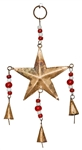 "Wholesale Star with Glass Beads Windchime 19""H"