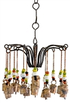 "Wholesale Iron with Beads Windchime 12""H"