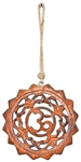 "Wholesale Om Wood Wall Hanging with Hemp Cord - 6""D"
