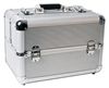 Silver Aluminum Makeup Cosmetic Train Case Organizer