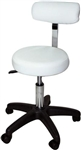 Hydraulic Adjustable Beauty Salon Stool With Backrest White ST-002