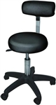 Hydraulic Adjustable Beauty Salon Stool With Backrest Black ST-002