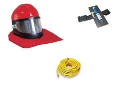 Clemco 10511 Apollo 60 HP Supplied-Air Respirator with 50 Ft. Breathing Hose & Cool-Air Tube