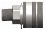 "Dixon 3TM3-SS-PV 3/8"" E-PAC COUP, 3/8"" M-NPTF, 316S, Body Material: 316 STAINLESS Body Size: 3/8"""