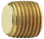 Parker 219P-2 Hex Head Plug, Low Lead Brass, 1/8 In