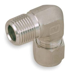 Parker 8MSEL8N-316 Male Elbow, Pipe And Tube 1/2 In, 316SS