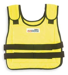 Bullard ISO2HY Vest,Cooling,Medium/Large,Hi Viz Yellow