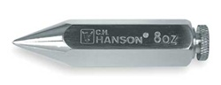 CH Hanson 45908 Plumb Bob 8 Oz Nickel Plated
