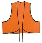 Orange Vinyl Safety Vest