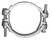 "Blastline 06BDB094 Double Bolt Hose Clamps, 3-1/2"" to 3-11/16"" OD"