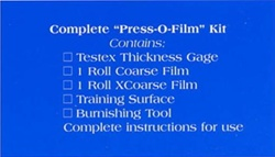 "Testex CX Complete ""Press-O-Film"" Kit W/ Metric Dial Gage"