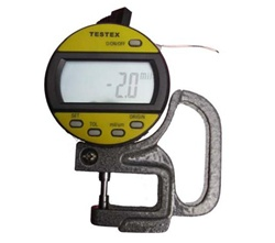 Testex Digital Thickness Gage simplifies the process of recording and storing replica tape profiles