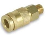 "Legacy A77425-T Combo coupler, 1/4"" MNPT, 1/4"" Body, brass, bagged, tray"