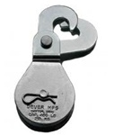 "Mini-Mule DB-15HS 1.5"" Scissor Hook(Swivel) Deuer Blocks, 420 Lb Capacity"