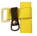 Lanyard ring, with attachment strap, can be added to any harness or belt